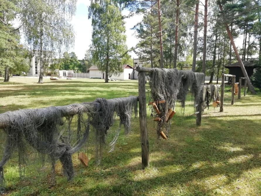 heutzutage sind Fischernetze meist nur Dekoration